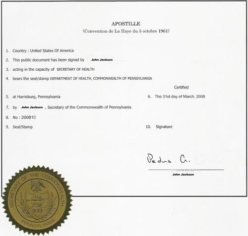 apostille for USA certificates in uae dubai sharjah ajman abudhabi